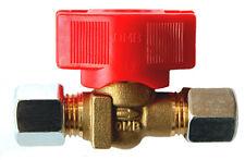 Kugelhahn Schnellschlussventil 8mm Schneidringverschraubung Gasleitung Gasrohr