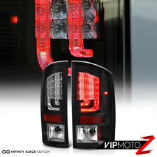 """PRISM"" 2002-2006 Dodge Ram 1500 2500 3500 Black LED Rear Tail Lights Brake Lamp"