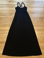NEW NWOT Forever 21 Black Sleeveless Spaghetti Strap Long Maxi Dress Size Small