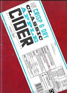 Cider bottle label - Crisp + Dry Classic Apple Cider (produced for Co-Op stores)