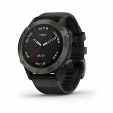 Garmin fenix 6 Sapphire Carbon Gray DLC Fitness GPS with Black Band 010-02158-10