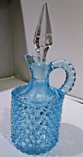 Fenton made for L.G Wright Aquamarine Hob Nail Curet