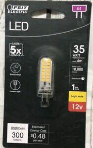 FEIT Electric 35-Watt Equivalent 3000K G4 Clear Glass BA15D LED Light Bulb.  New