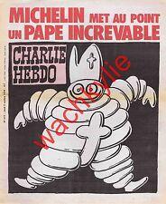 Charlie Hebdo n°412 du 05/10/1978 Pape Bibendum Michelin Mort Jean-Paul Ier