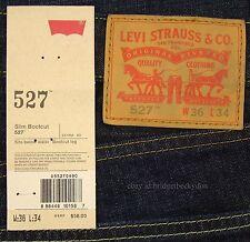 Levis 527 Jeans Mens New Slim Boot Cut Size 36 x 34 BLACK INDIGO Levi's #163