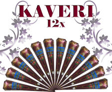 Pack of 12_Kaveri Henna Cone For Natural Reddish-brown Henna Temporary Tattoos