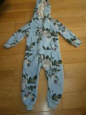Beautiful Girls Floral Fleece All in One - Next - age 4 - Pale Blue