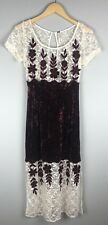 Free People Velvet And Lace Floral Dress Size 0