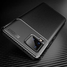COVER per Samsung Galaxy A42 5G CUSTODIA ORIGINALE CARBONIO + VETRO TEMPERATO 9H