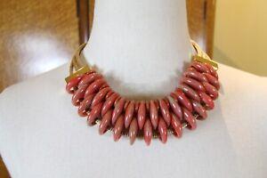 NEW $400 Pono Joan Goodman Resin choker style Necklace, Italian Jewelry Italy