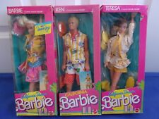 California Dream Barbie Ken Teresa NRFB 1987 Lot of 3 Dolls