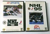 Sega Genesis NHL '94 Limited Edition Label RARE & NHL 95 lot - Tested & Work