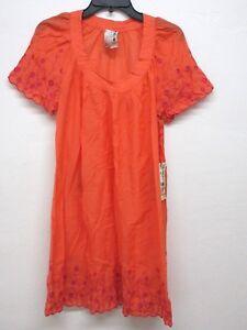 NEW Da-Nang Women's Summer Dress Short Sleeves MANDERINERED CSV8551569 MEDIUM