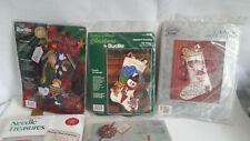 New listing 8 Misc Christmas Ornament Kits Stocking Bucilla Storybook Needletreasure Special