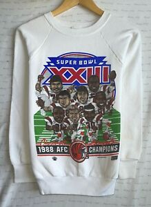 Vtg Cincinnati Bengals '88 AFC Champs Super Bowl XXIII Women's Size S Sweatshirt