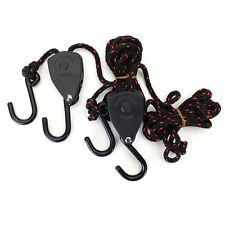"150lb 1/8"" Rope Ratchet Adjustable Heavy Duty Grow Light Reflector Yoyo Hanger"