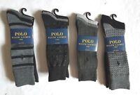 Polo Ralph Lauren Men`s Long Socks 3 pair Dress Socks Classic