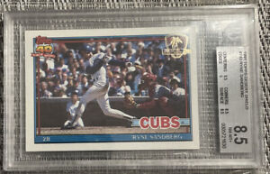 1991 Topps Desert Shield Ryne Sandberg #740 BGS 8.5 NM-MT+ Chicago Cubs