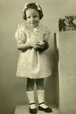 France Roubaix Girl & soft toys Animals Children Game Old Photo Mischkind 1900