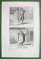 HOLY LAND Costume of Jews - Antique Print Engraving