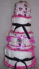 Girl Baby Shower Games Minnie Mouse Diaper Cake Christmas Gift Mom Party Favors