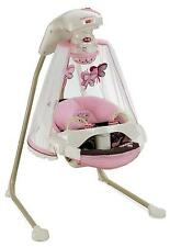 Baby Cradle Swing Papasan Butterfly Music Sounds Mobile Infant Gift Seat New