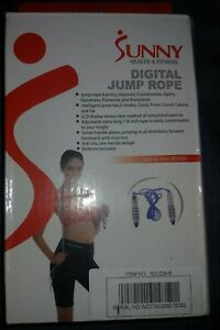 NEW! Sunny Health & Fitness Digital Jump Rope (ITEM # 029B)