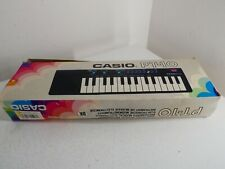 More details for vintage retro casio pt-10 electronic keyboard synthesiser w/ box - working a28