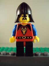 Lego Minifig ~ Brave Dragon Knight Warrior w/Black Helmet Castle Vintage Guard