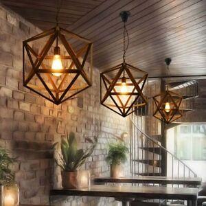 Industrielampe Metall Vintage Hängeleuchte Retro Seil Pendelleuchte Deckenlampen