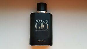 LEERE Giorgio Armani Profumo Herren leere Flasche aus Originalparfüm