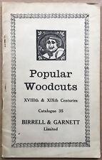 Birrell & Garnett POPULAR WOODCUTS Catalogue No.35 BOOK Bloomsbury Group David