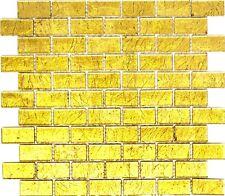 Mosaik Verbund Glasmosaik uni gold Struktur Fliesenspiegel Art:120-0744 10Matten