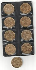 RARE 1968 NEW ORLEANS SAINTS PROGRAM GOLD DOUBLOON COIN COMPLETE SET JAX BEER