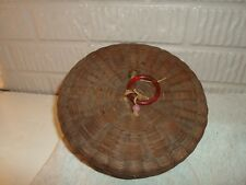 antique sewing basket with basket full of thread!!!!