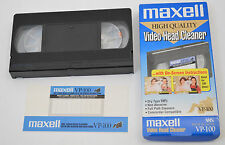 Maxell VHS VCR Head Cleaner VP-100 Dry Type Video Cassette Home System