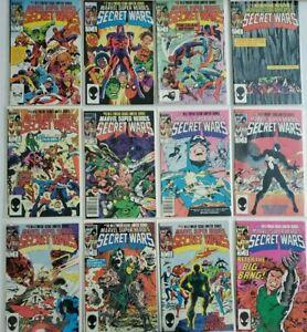 MARVEL SUPER HEROES: SECRET WARS #1-12 INCLUDES #8 SPIDER-MAN SYMBIOTE FULL SET