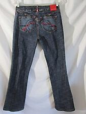 Ecko Red Juniors Size 7 Jeans 29x27 Boot Stretch med Wash Distressed EUC   #12