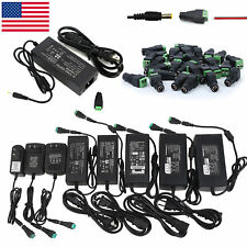 12V 24V DC 1A 2A 3A 5A 6A 8A 10A Power Supply Adapter 110/220 12V 24Volt Wall