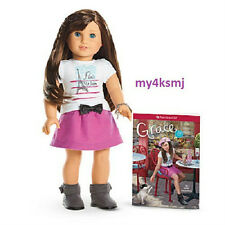 """American Girl GRACE Doll and Book 18"""" GRACE THOMAS + BRACELET same day shipping"""