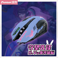 Overwatch D.VA DVA  Night Lights PC USB Cool Wired Mouse Optical Mouse Cosplay