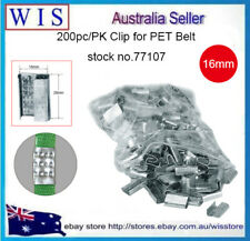 200/PK PET Strap Seals,Metal Seals Packing Strap Clips for PET Strap,16mm-77107