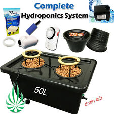 DWC Hydroponics 2 Mesh Pots Watering System With Irragation Air Water Pump Timer