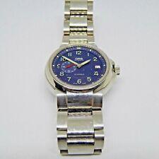 S/steel water resistant Oris automatic date black dial watch on bracelet