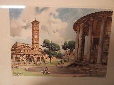 ROMA-TEMPIO di VESTA Art Print, artist signed