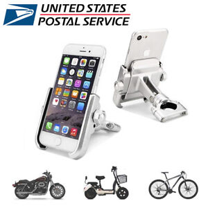 Aluminum Motorcycle Bike Handlebar Mount 360° Holder For GPS Mobile Cell Phone