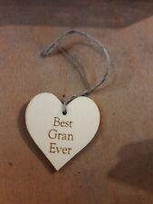 Handmade Wooden Gift Tags Best Gran Ever