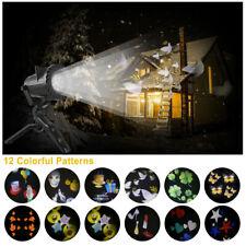 12 Muster LED Laser Projektor Licht Außen Beleuchtung Lichteffekt Deko Halloween