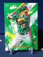 2020 Topps Inception Sean Murphy RC Green SP #9 Oakland Athletics
