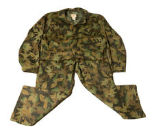 Vintage Kelly Cooper Tru-leaf Camouflage coveralls Full body hunting Suit Size L